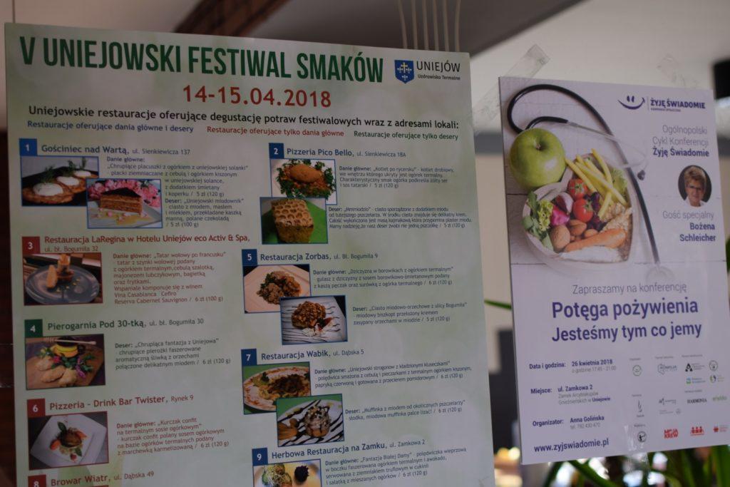 Plakat z Uniejowskiego Festiwalu Smaków